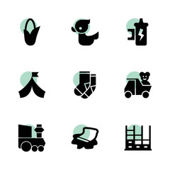 Cartoon icons. vector collection filled cartoon icons set.