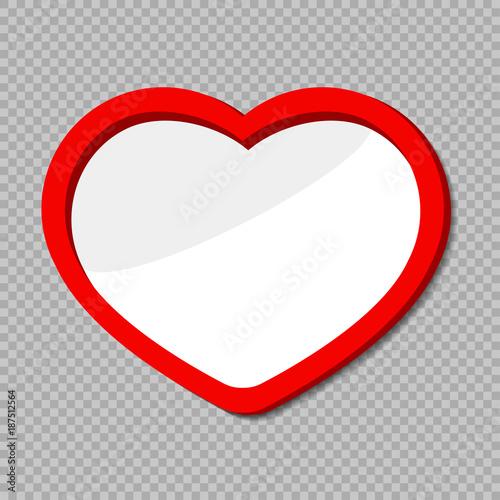 Photo frame on transparent. Photo heart shaped frame.\