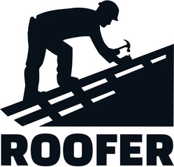 Roofer at work job title