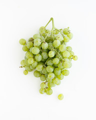 green grape / muscat on white background