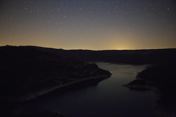 night stars on the lake