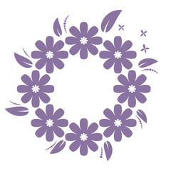 Beautiful flower onament in purple