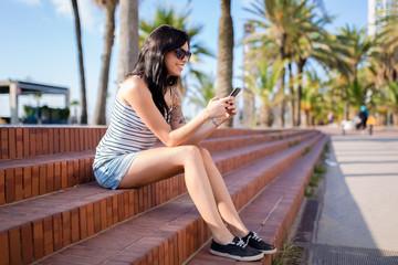 Alternative woman portrait outdoors in summer