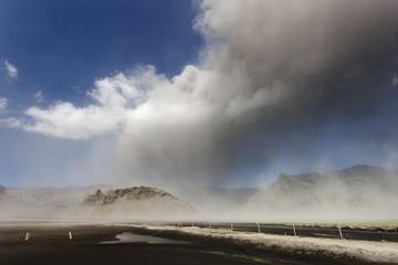 Volcano Ash Cloud Explosion / Eyjafjallajokull volcano erupting in south Iceland