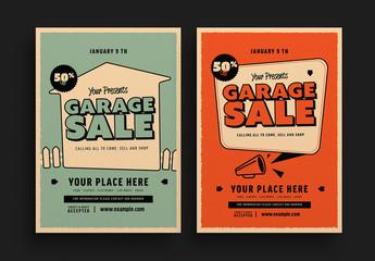 Retro Garage Sale Flyer Layouts