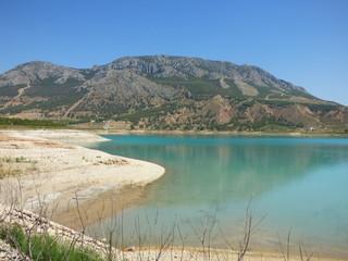 Embalse del negratin en Granada (Andalucia,España) entre Guadix, Freila, Zújar, Baza, Benamaurel y Cuevas del Campo