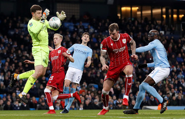 Carabao Cup Semi Final First Leg - Manchester City vs Bristol City