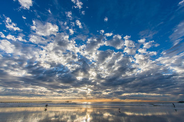 Sunset Beach Reflections