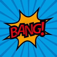 Comic Sound Effect BANG! - Vector Illustration