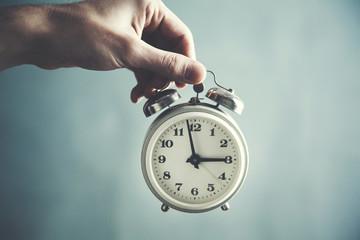 man  hand clock