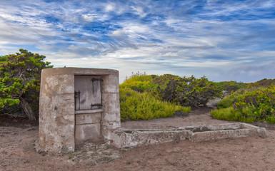 Abrebader in the natural park of Las Salinas in Ibiza