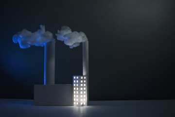 Paper Power Station, (horizontal with blue light)