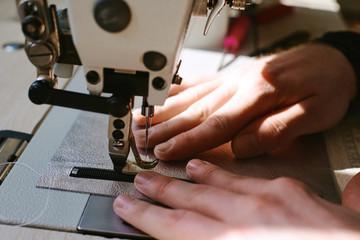 Leatherworker sewing bag