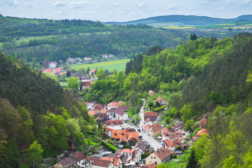 Karlstejn village bird eye view