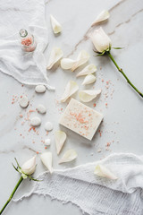 Natural soap with rose