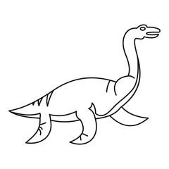Elasmosaurine icon, outline style