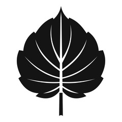 Alder leaf icon, simple style