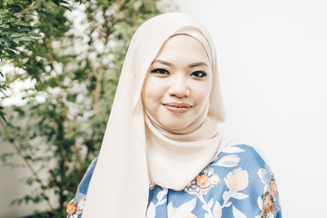 portrait of young malaysian woman