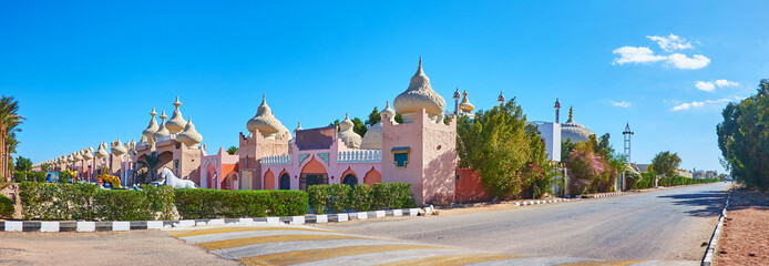 Panorama of the Eastern market of Sharm El Sheikh, Egypt
