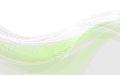 Abstract soft background with green wave. Vector illustration