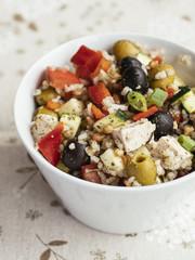 Greek Rice Salad with Tofu
