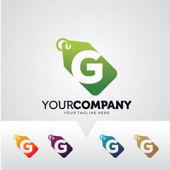 Letter G Price Label Logo Template Design Vector, Emblem, Design Concept, Creative Symbol, Icon