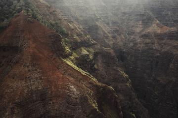 Waimea Canyon helicopter images in Kauai Hawaii