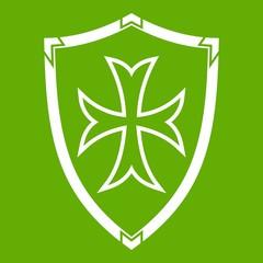 Protective shield icon green