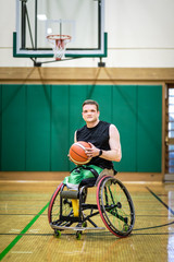 Wheelchair Basketball Athlete in Practice