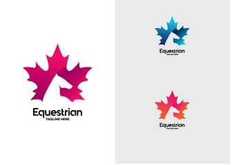 Equestrian Logo Template Design Vector, Emblem, Design Concept, Creative Symbol, Icon