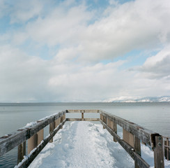 Lake Tahoe Winter Pier
