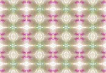 Neon colored kaleidoscopic pattern photographed with macro lens inside kaleidoscope
