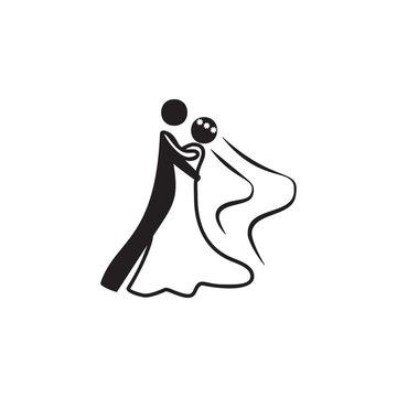 a wedding dance icon. Dance elements. Premium quality graphic design icon. Simple love icon for websites, web design, mobile app, info graphics