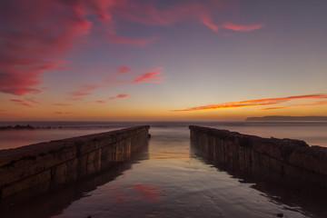 Parallel Pier Sunset
