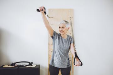 Senior Woman Doing Hand Exercise