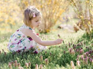 Little gathering flowers