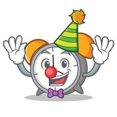 Clown alarm clock mascot cartoon