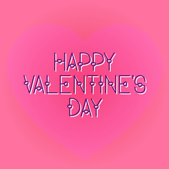 Happy valentines day romantic greeting card typography poster with modern font