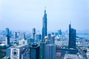 modern buildings in midtown of modern city