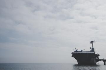 Docked Naval Ship