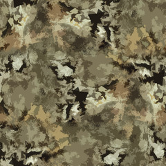 Seamless camouflage abstract pattern in forest colors