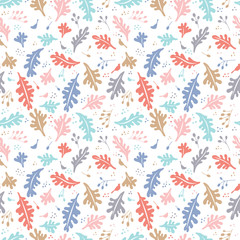 Colorful vector floral pattern