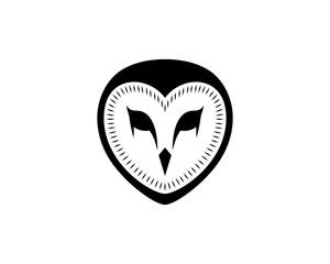 Black Owl Head Illustration Hand Drawing Symbol Logo Vector