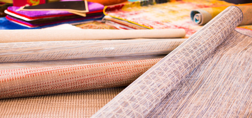 Image of  wicker organic bamboo carpets
