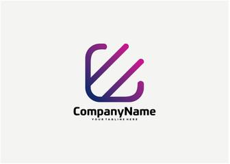 Abstract Square Logo Template Design Vector, Emblem, Design Concept, Creative Symbol, Icon