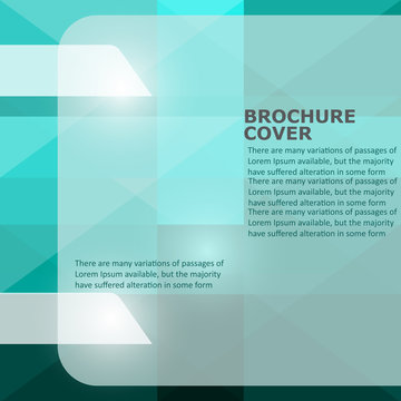 vector abstract teal brochure cover design