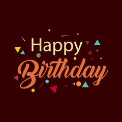 Happy Birthday Vector Template Design