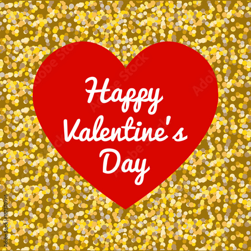 b38364640bbe Gold Glitter, Happy valentine's day heart