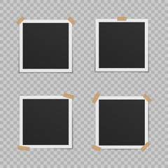 Set of blank photo frames.