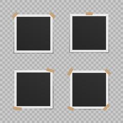 Set of blank photo frames.